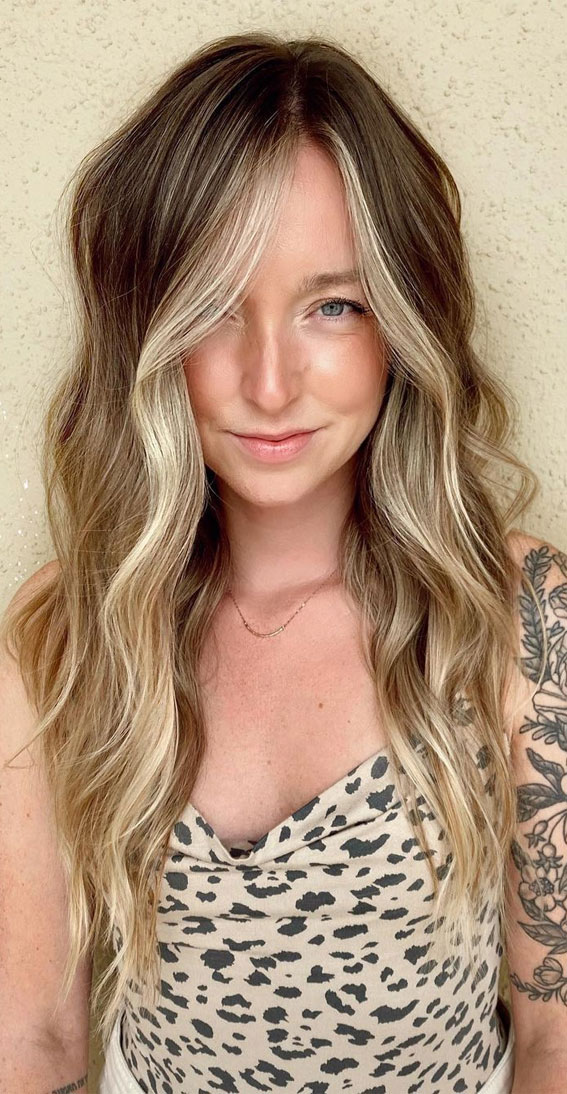 Gorgeous Hair Colour Trends For 2021 : Blonde melting and glossing
