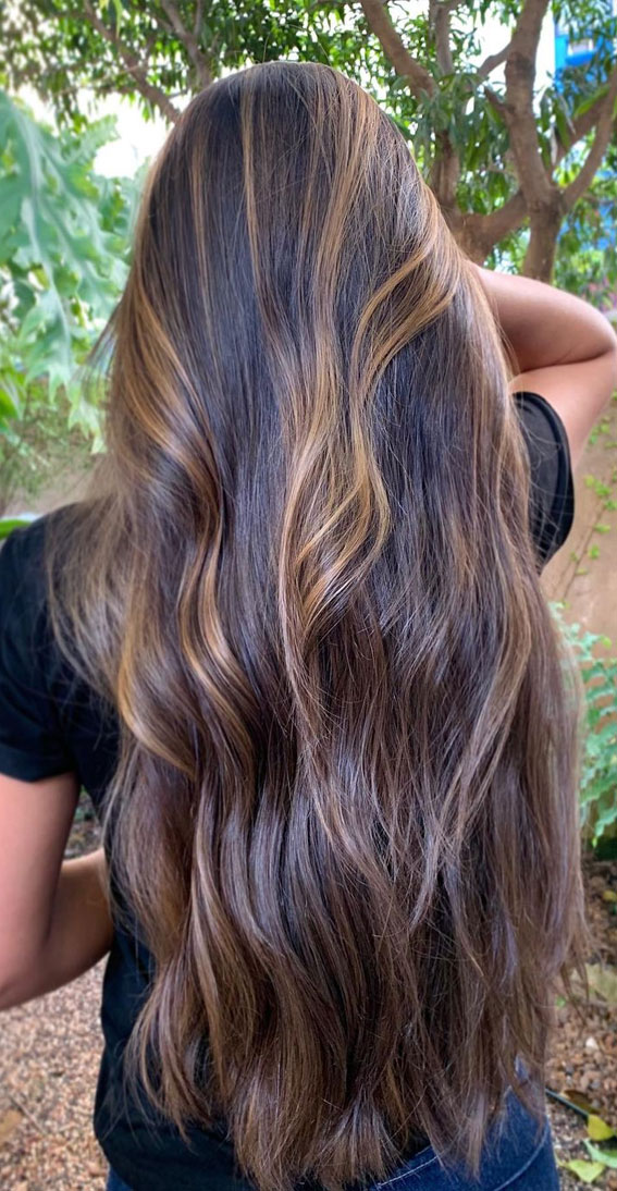 Gorgeous Hair Colour Trends For 2021 : Salted Caramel Highlights