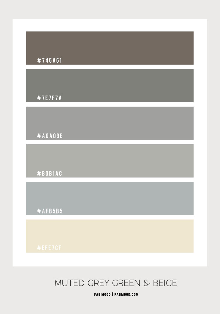 muted grey green colour scheme, colour scheme in muted grey green, color hex, mute grey green color with beige and dusty blue accent colours