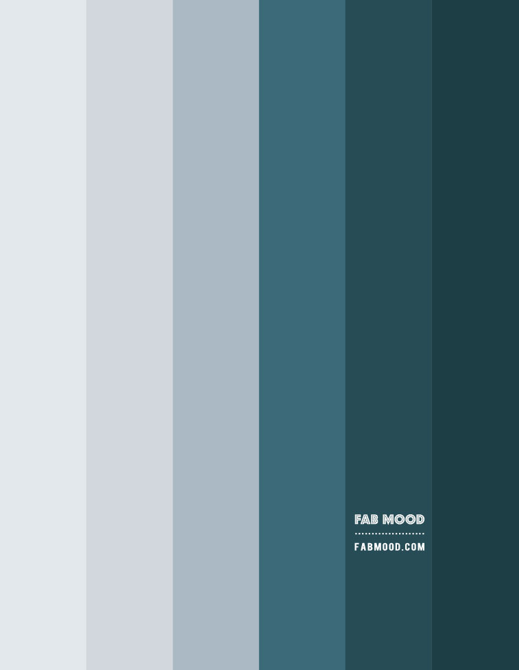 blue and green teal gradient color palette, light blue and deep green color combination
