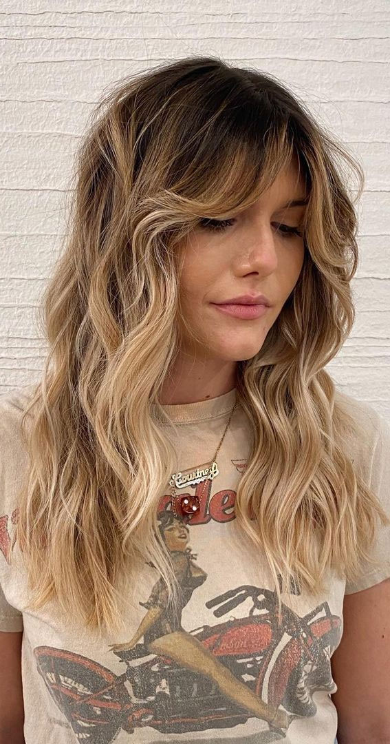 Cute Haircuts And Hairstyles With Bangs : Modern shaggy with bangs