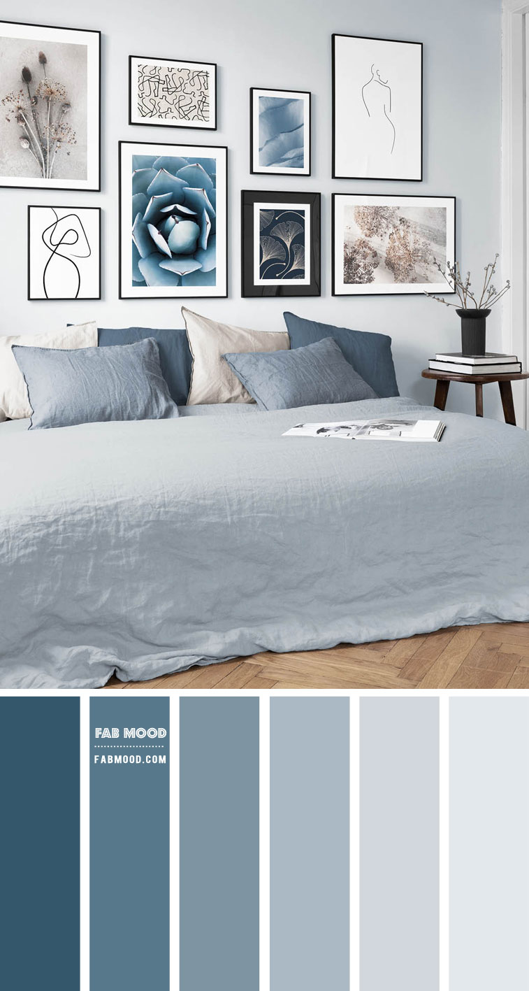 Dusty Blue Bedroom Color Scheme