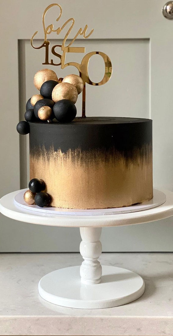 Pretty Cake Ideas For Every Celebration : 50th birthday