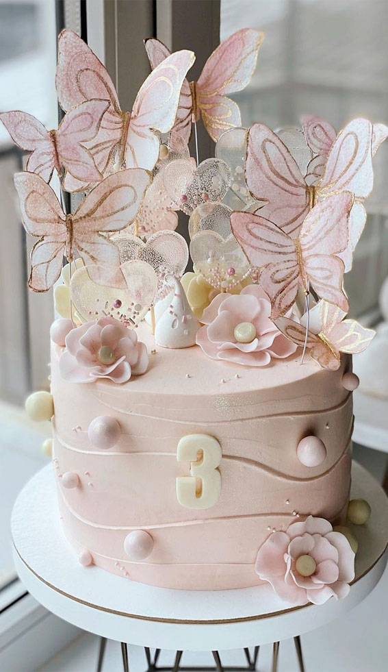 Pretty Cake Ideas For Every Celebration : Waffle paper butterflies