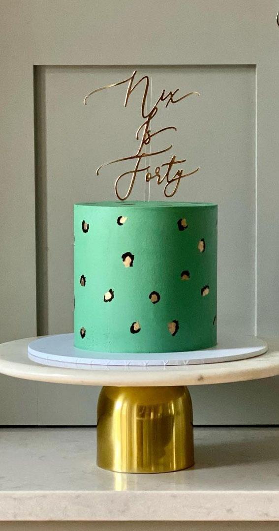 Pretty Cake Ideas For Every Celebration : Green leopard print cake
