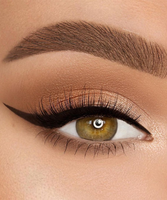 Best Eye Makeup Looks For 2021 : Classic wing with neutral look