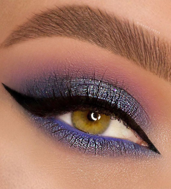 Best Eye Makeup Looks For 2021 : Icy blue Makeup Look