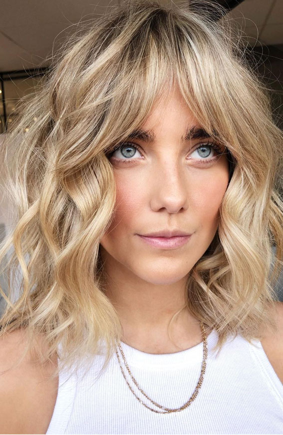Cute Haircuts And Hairstyles With Bangs : Blonde Bombshell Bob