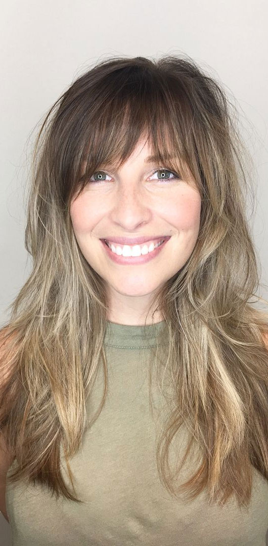 Cute Haircuts And Hairstyles With Bangs : Long layers & bangs