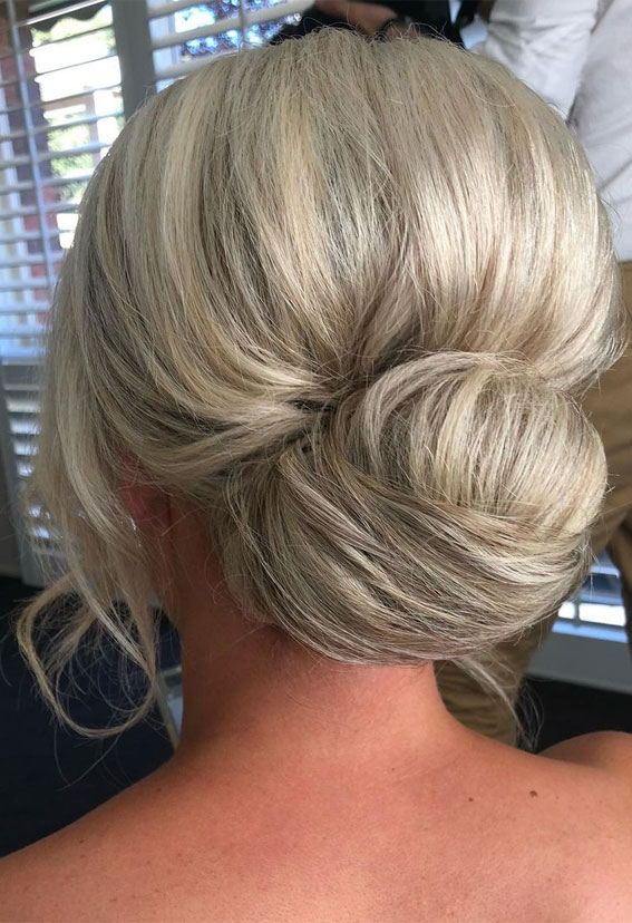 Updo Hairstyles For Your Stylish Looks In 2021 : Elegant bun