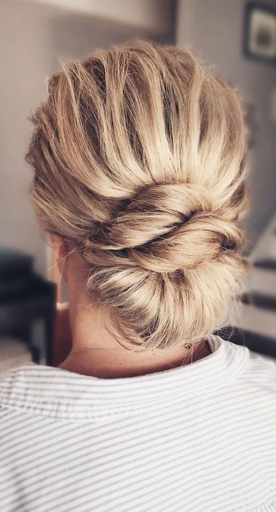 Updo Hairstyles For Your Stylish Looks In 2021 : Effortless Updo