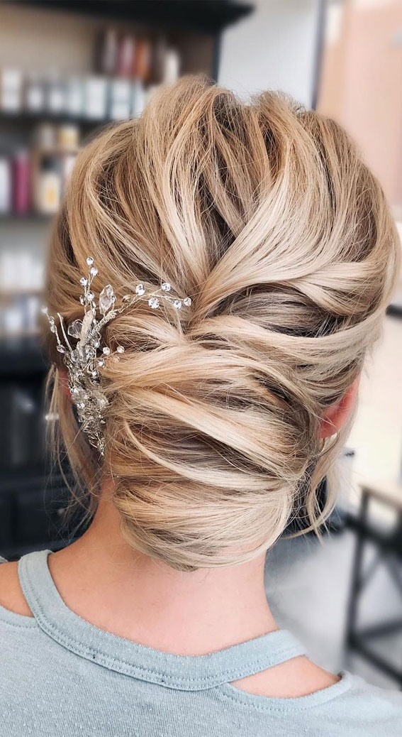 Updo Hairstyles For Your Stylish Looks In 2021 : Beautiful chignon