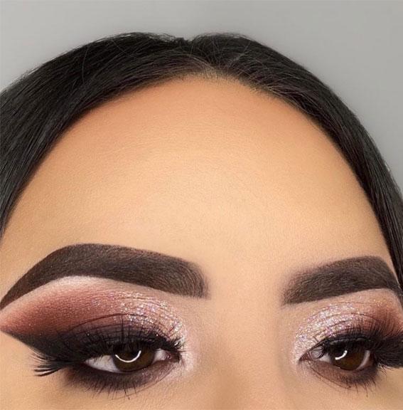 mauve makeup izgled, šminka za smeđe oči, najbolja šminka za smeđe oči, najbolje sjene za smeđe oči u 2021. godini