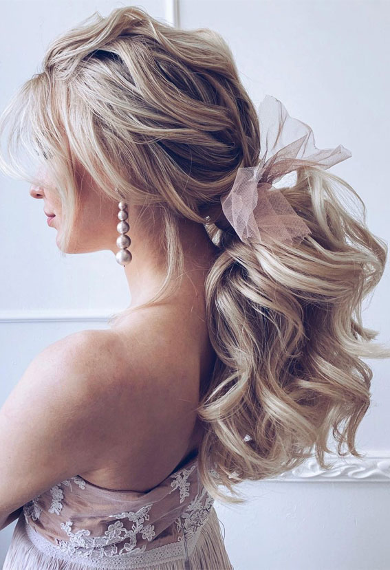 bridal ponytail, ponytail hairstyle, wedding ponytail, ponytail hairstyles, ponytail hairstyle with puff, unique ponytail hairstyle, braided ponytail hairstyle, ponytails, sleek ponytail