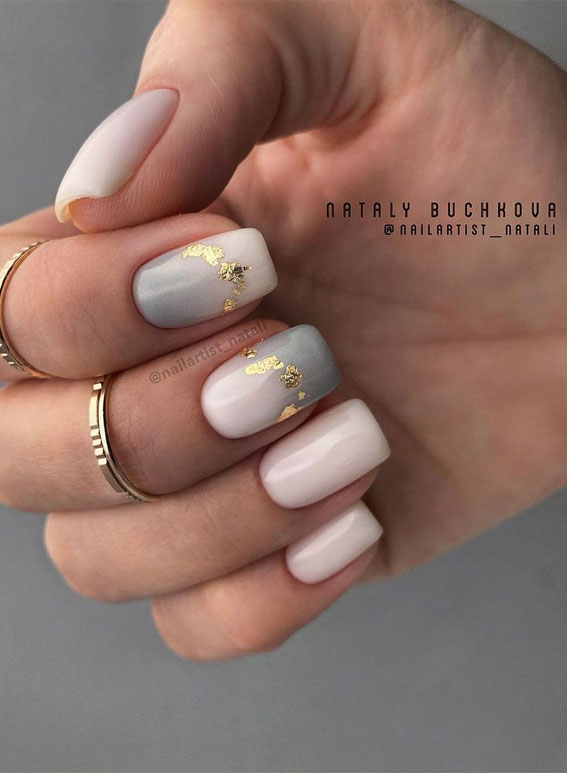 Cute Spring Nails That Will Never Go Out Of Style : Smokey and nude nails