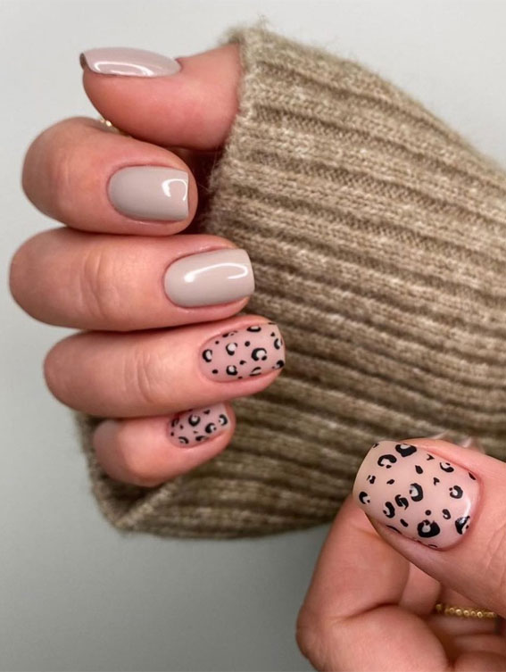 animal print nail tips, french animal nails, different color nails on each finger, mismatched leopard nails, nail designs, nail art, animal print nails , nail designs 2020, leopard print nails, leopard print nails 2020, leopard nails design, cheetah nails, animal print nails 2020