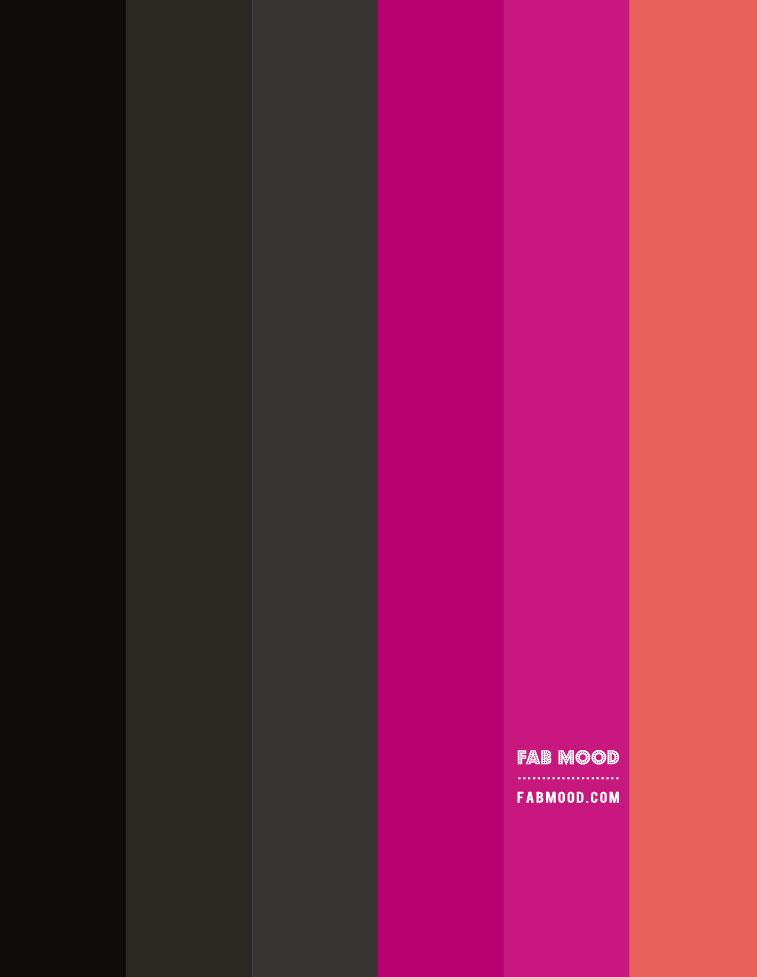 black and magenta, black and dark pink, black and peony colour scheme, black and magenta colour hex, black and dark pink gradient olor