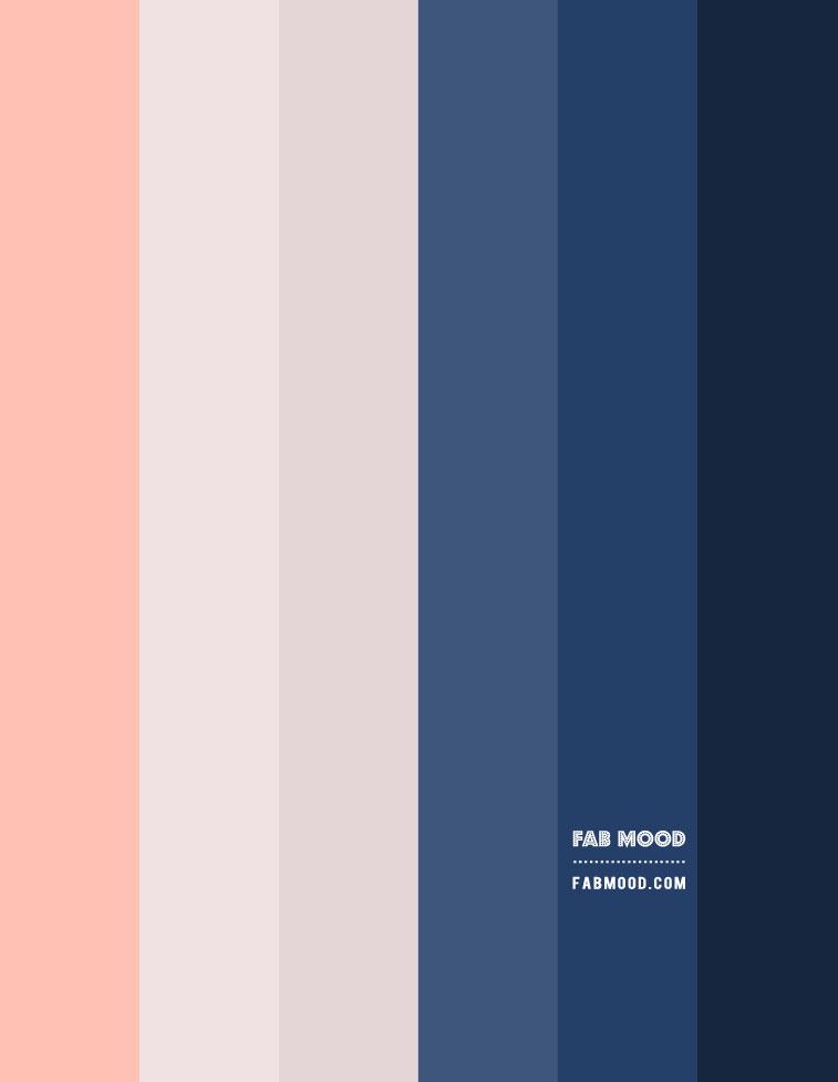 gradient color, ombre color palette, navy blue light grey and peach, light grey and navy blue gradient