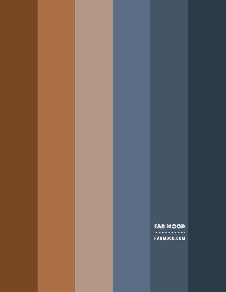 dark blue and brown gradient color , dark blue and brown gradient color palette, dark blue and tobacco color scheme