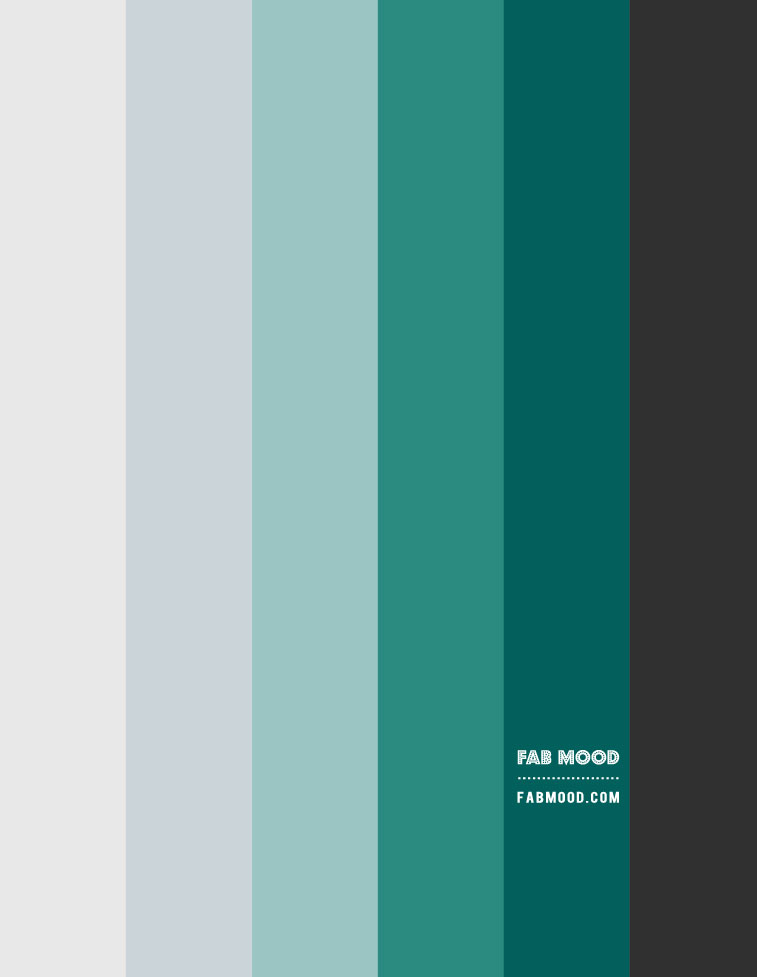 charcoal and teal green gradient color palette, teal green and grey color combo, green colours, green gradient colour palette