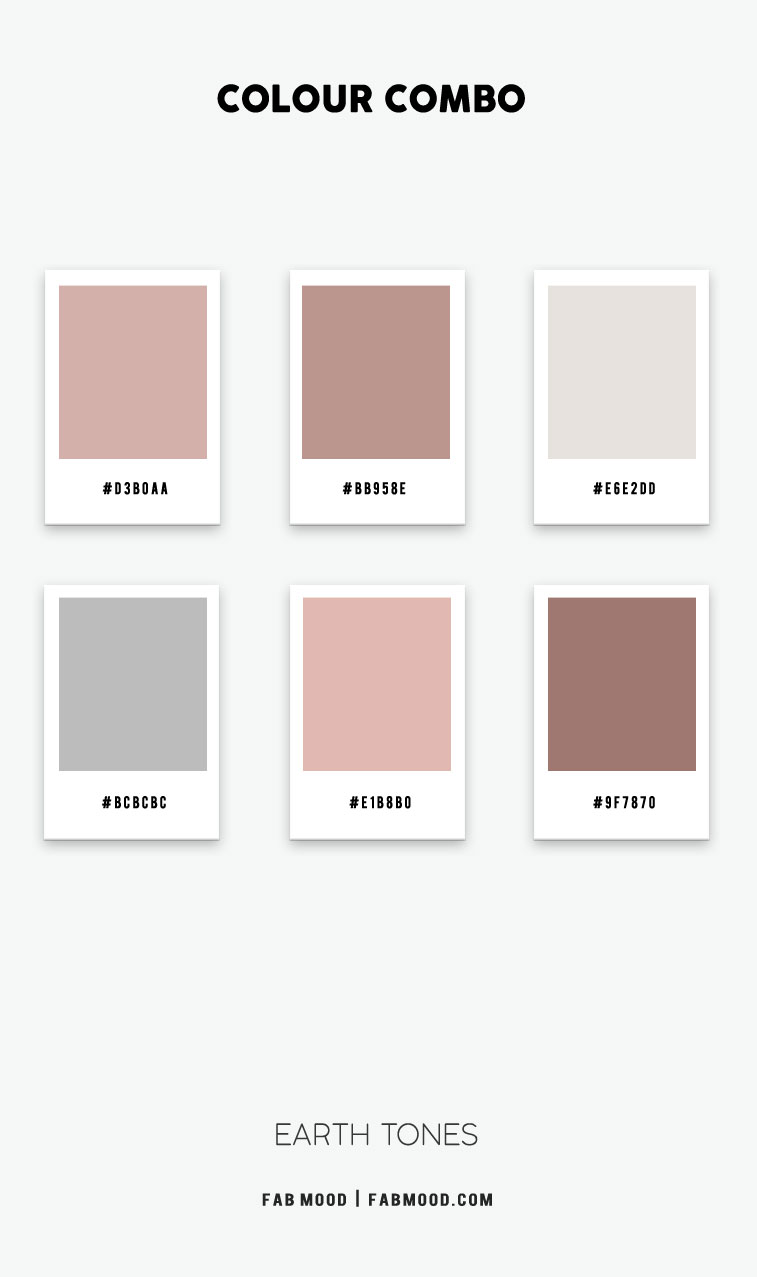 dusty rose and grey color hex, dusty rose and grey color combo, dusty terracotta color scheme, earth tone color scheme, earth tone color hex, earth toned color combination