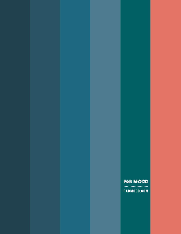 gradient blue grey and teal color palette, color combo, blue grey and teal color scheme