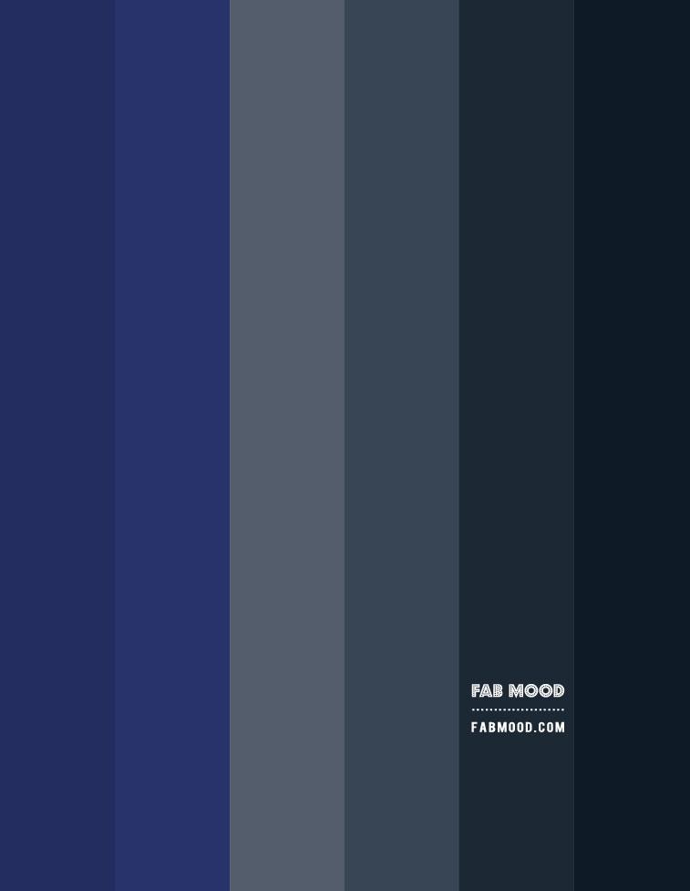 dark grey and prussian blue living room, dark grey color scheme, moody color combo, dark color scheme, dark blue and prussian gradient color palette
