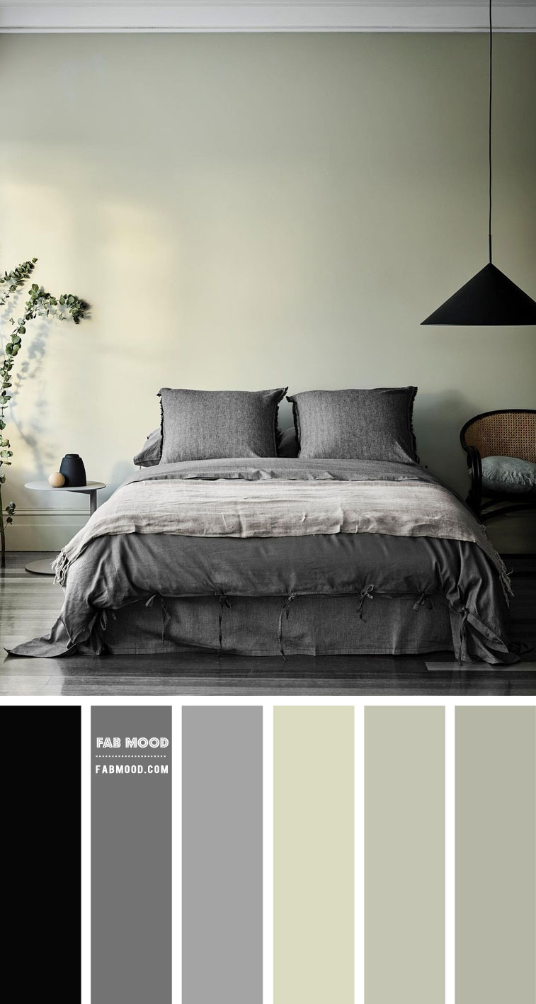 Grey and Sage Bedroom Colour Scheme