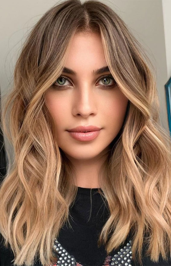 55+ Spring Hair Color Ideas & Styles For 2021 : Brown to warm blonde