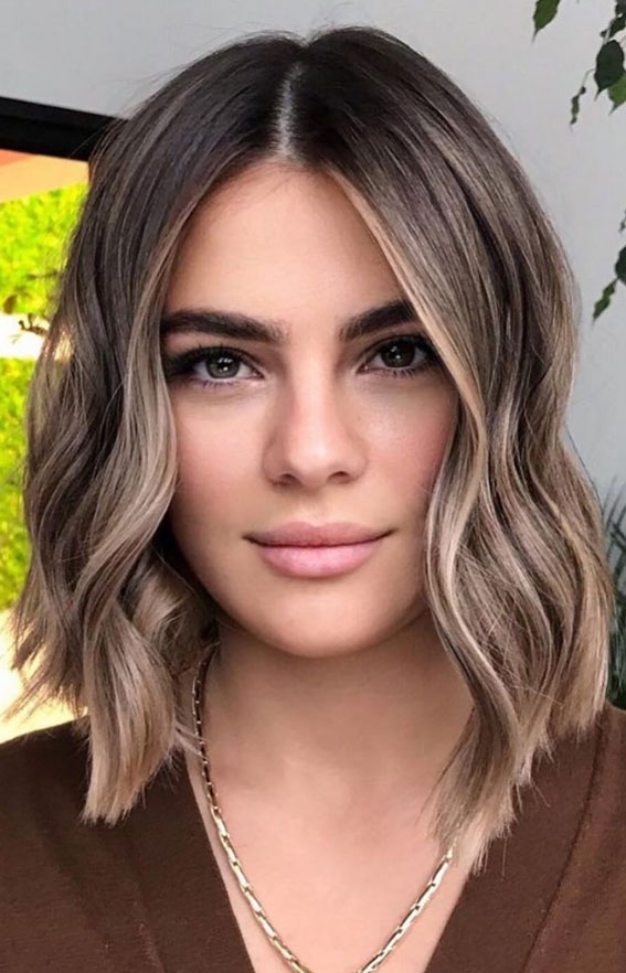 55+ Spring Hair Color Ideas & Styles For 2021 : Blonde & lob haircut