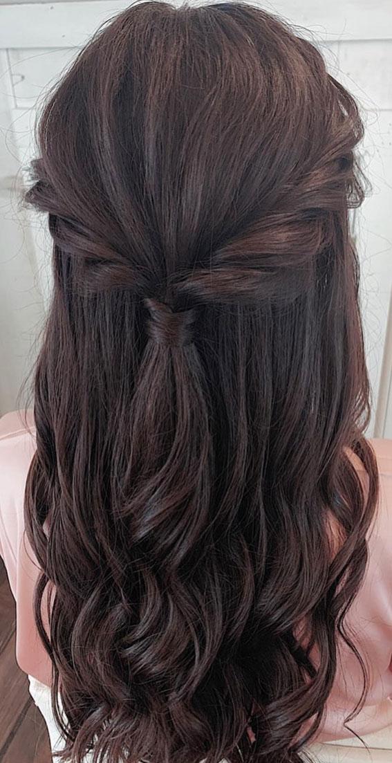 Trendy Half Up Half Down Hairstyles : Puff & Textured Half Up