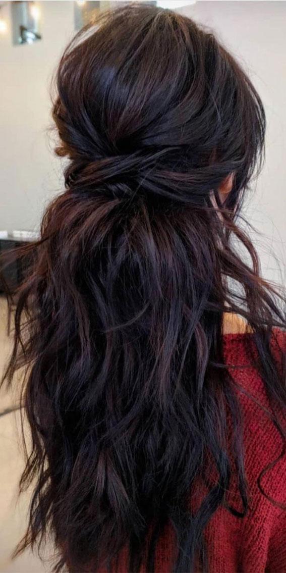 Trendy Half Up Half Down Hairstyles : Loose Braided Half Up