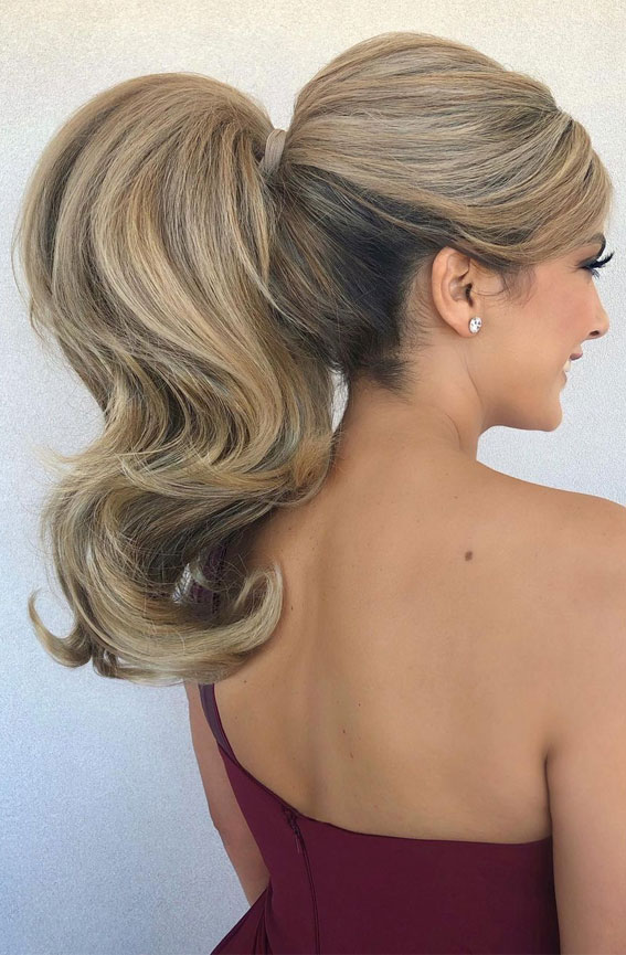 High And Low Ponytails For Any Occasion : Glam Power high ponytail