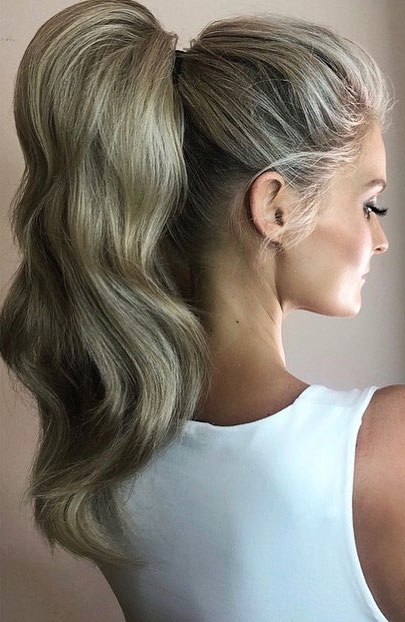 High And Low Ponytails For Any Occasion : Flirty blonde power high ponytail