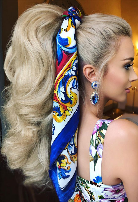 High And Low Ponytails For Any Occasion : blonde high power ponytail