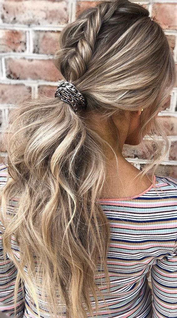 44 Beautiful Ways To Wear Braids This Season : Edgy braided ponytail