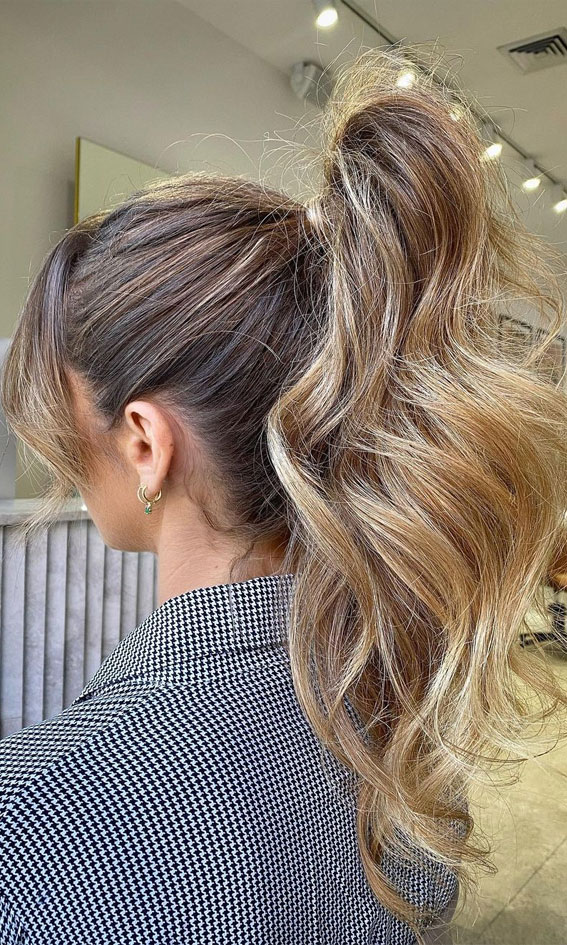 High And Low Ponytails For Any Occasion : High Power Ponytail