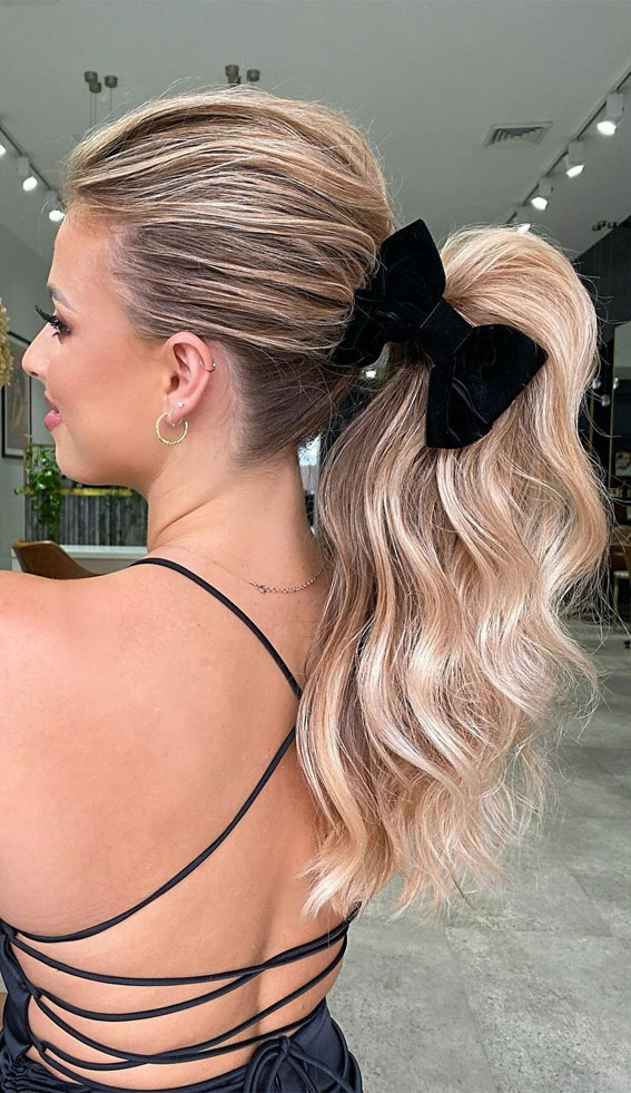 High And Low Ponytails For Any Occasion : Glamour Power Ponytail