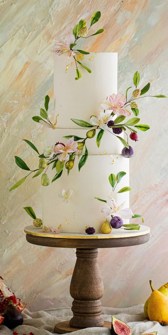 41 Best Wedding Cake Styles For Your Big Day : Watercolor Wedding Cake
