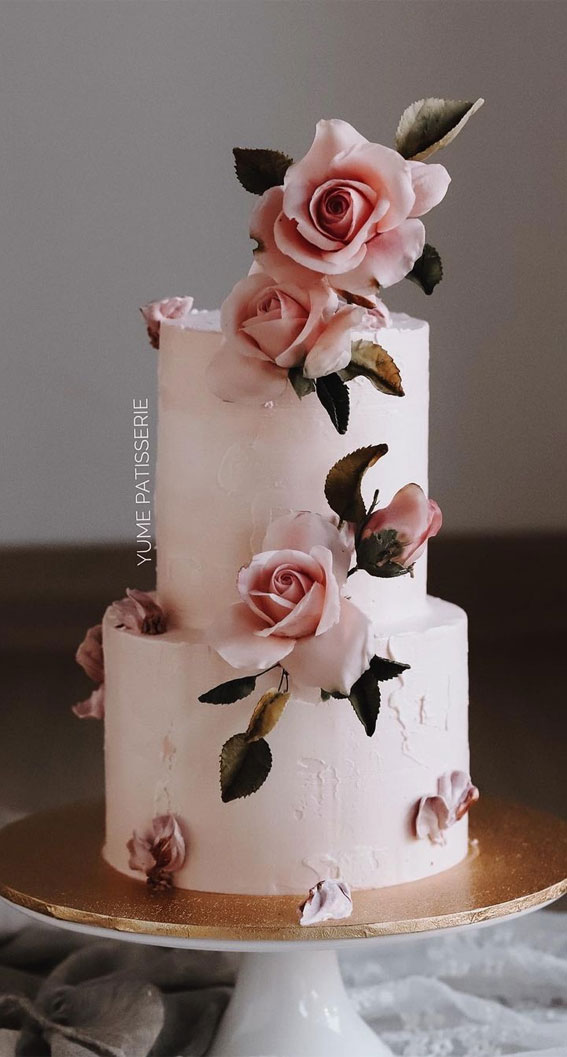 41 Best Wedding Cake Styles For Your Big Day : Touch of elegance & vintage