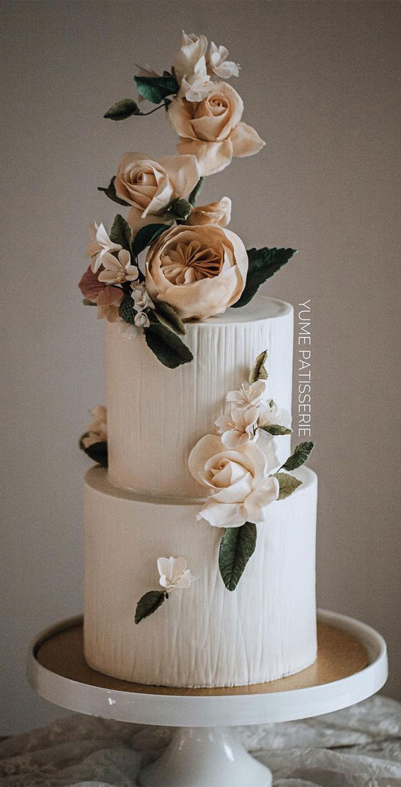 41 Best Wedding Cake Styles For Your Big Day : Sunset wedding cake