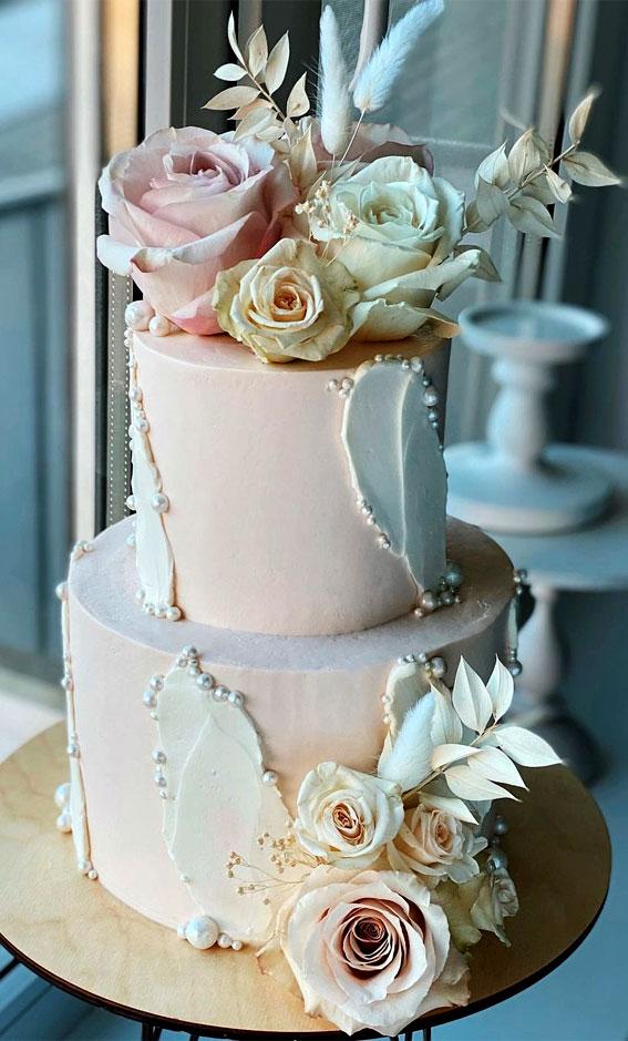 pink two tier birthday cake, 18th birthday cake ideas