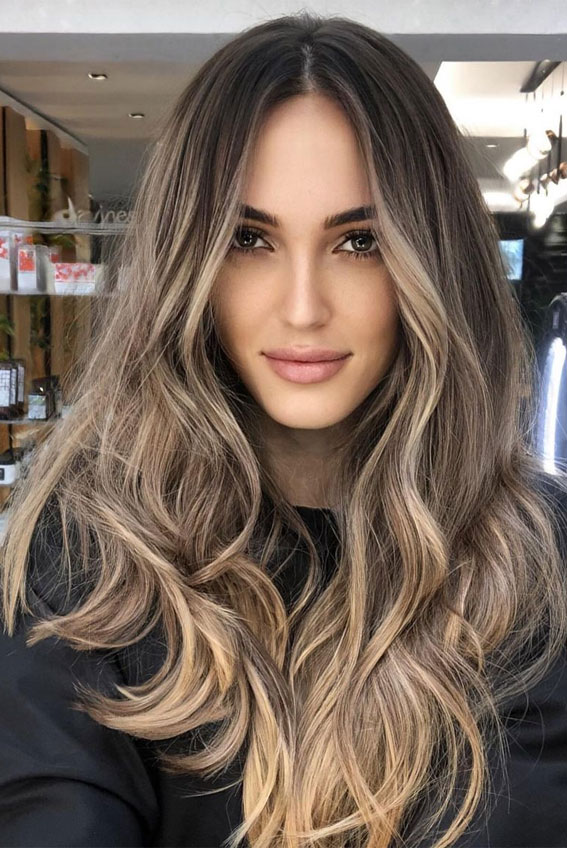 hair color trends 2021, 2021 hair color trends , 2021 blonde hair color trends, hair color ideas for brunettes, 2021 hair color trends female, brown hair color with highlights, brunette hair color, dark brunette hair, walnut brown hair colour #haircolour #brunettehaircolor #haircolorideas