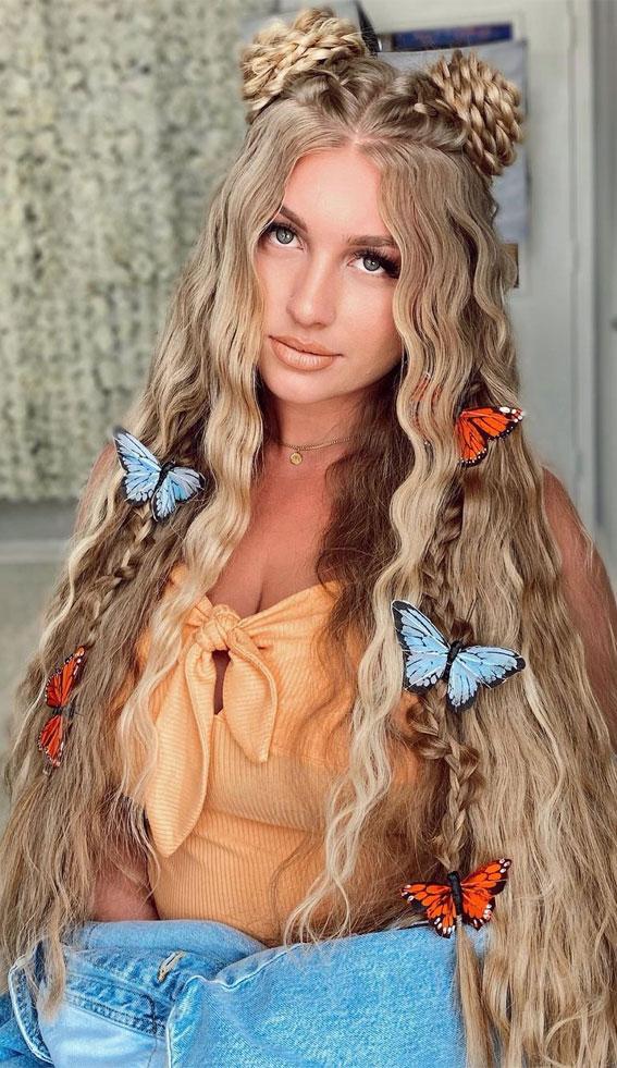 rose bun and braids, festival braid, bobo braid, half up fishtail braid, braided hairstyles, braided hairstyles for short hair, braided hairstyles, braids hairstyles for school girls, braids hairstyles 2021, braid hairstyles, french braid hairstyles, fishtail braided hairstyle, braided half up, #braidedhairstyle #braids