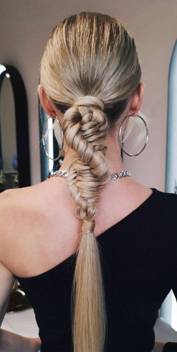 sleek braided ponytail, braided ponytail, braided hairstyles, braided hairstyles for short hair, braided hairstyles, braids hairstyles for school girls, braids hairstyles 2021, braid hairstyles, french braid hairstyles, fishtail braided hairstyle, braided half up, #braidedhairstyle #braids