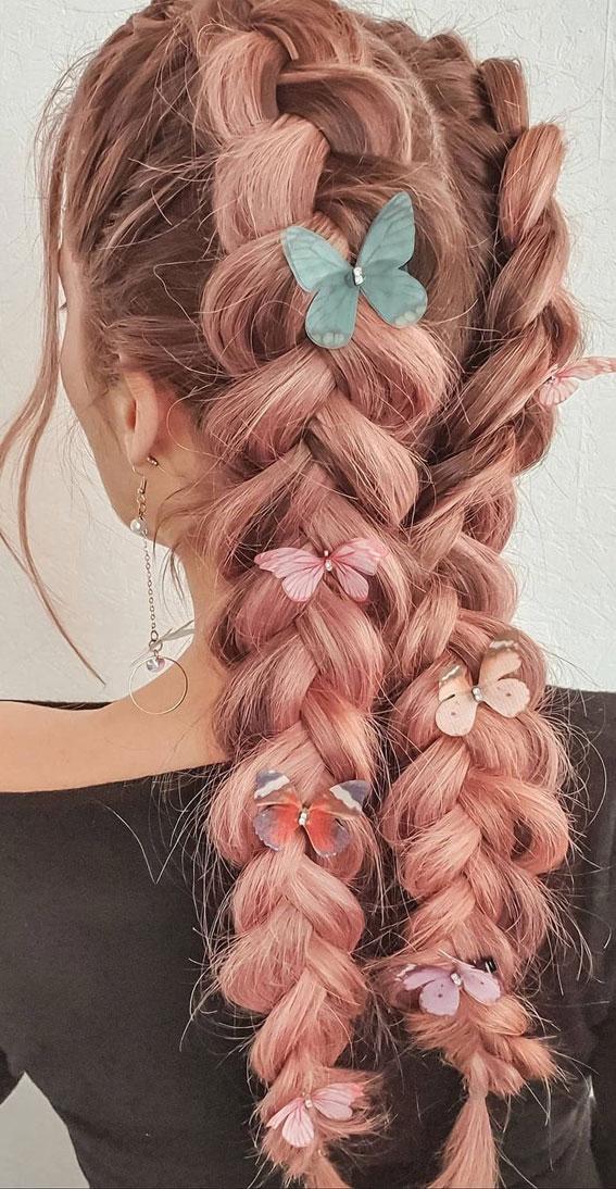 pigtail braid, braided ponytail, braided hairstyles, braided hairstyles for short hair, braided hairstyles, braids hairstyles for school girls, braids hairstyles 2021, braid hairstyles, french braid hairstyles, fishtail braided hairstyle, braided half up, #braidedhairstyle #braids