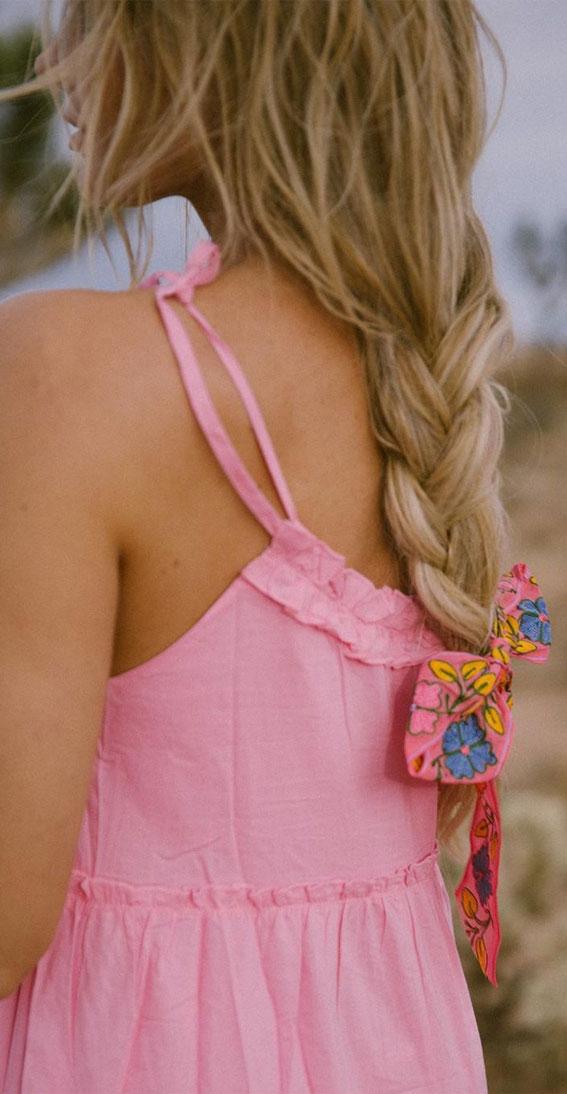 Cute braided hairstyles to rock this season : Cute loose messy braid