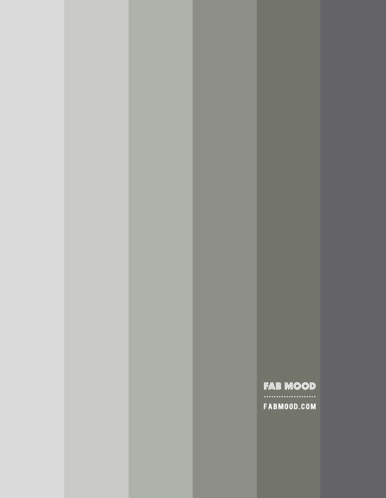 grey and muted sage green gradient colour palette, muted green color palette
