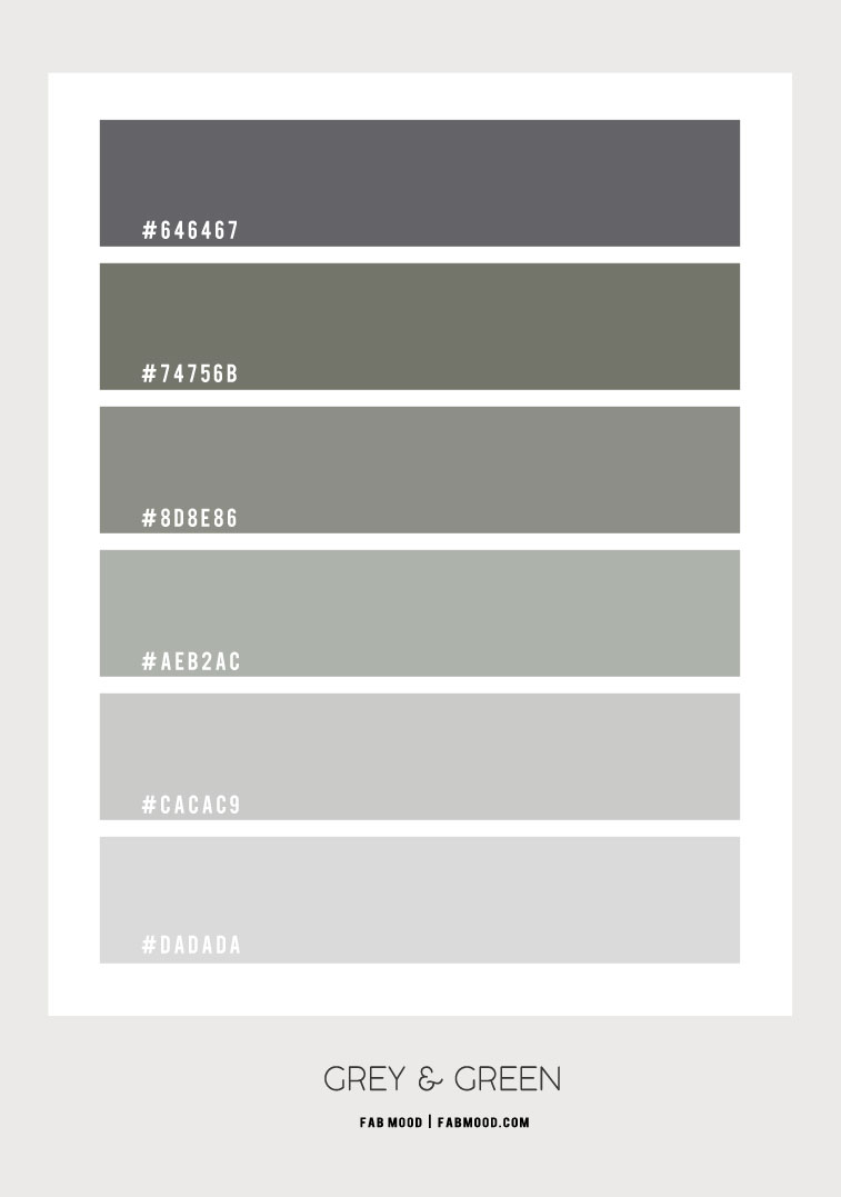 grey and muted green color palette, muted sage green color hex, grey and sage green color combination