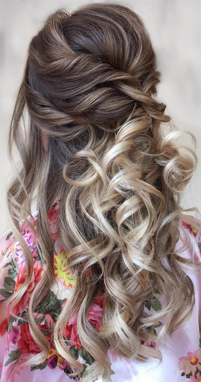 Trendy Half Up Half Down Hairstyles : Trendy boho half updo